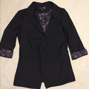 Black Forever 21 3/4 sleeve blazer
